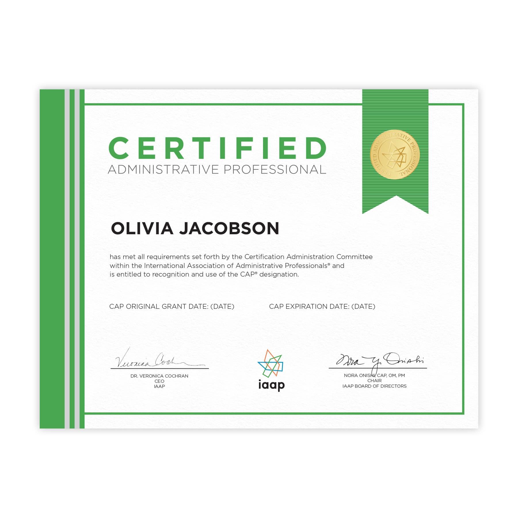certification programs iaap